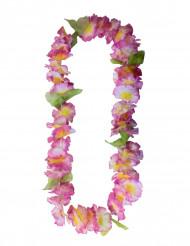 Colar flores havaianas cor de rosa