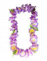 Colar de flores havaianas violetas