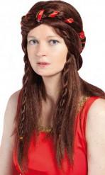 Peruca medieval castanha mulher