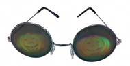 Óculos metal redondos com holograma abóbora