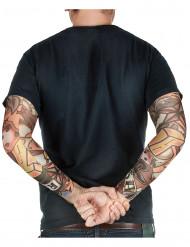 Mangas falsas com tatuagem