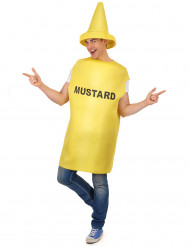 Disfarce de frasco de Mustarda para Adulto