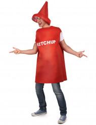 Disfarce de frasco de Ketchup para adulto