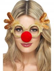 Óculos de rena adulto Natal