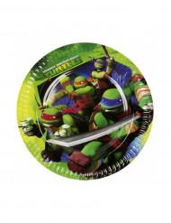 8 pratos Tartaruga Ninja™ 18cm