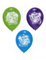 6 Balões de látex tartarugas Ninja™