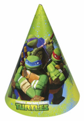 6 Chapéus de festa Tartarugas Ninja™