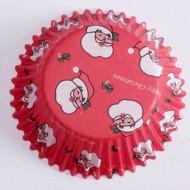 60 Formas de papel para cupcakes Pai Natal
