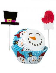 Set de formas para cupcakes e palitos de decoração