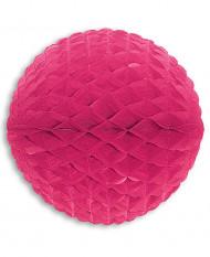 Bola de papel cor-de-rosa