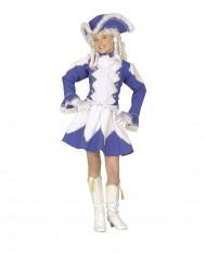 Disfarce de majorette azul menina
