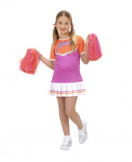 Disfarce pompom girl lilás menina