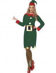 Disfarce de elfo mulher Pai Natal