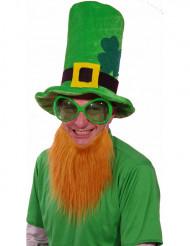 Chapéu veludo verde com barba ruiva São Patrício