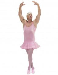 Disfarce humorístico dançarina de ballet cor-de-rosa homem