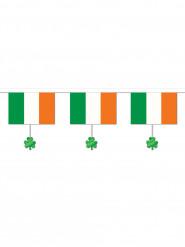 Grinalda bandeira irlandesa e trevos São Patrício