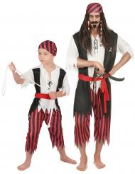 Disfarce dueto pirata pai e filho