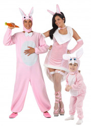 Disfarce família coelho