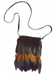 Saco de índio com plumas