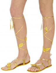 Sandálias douradas adulto