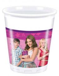 8 copos plástico Violetta™