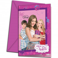 6 cartas de convite com envelope Violetta™