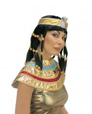 Peruca cleopatra preta mulher