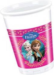 8 copos Frozen™ rainha de neve