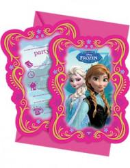 6 cartas de convites Frozen™