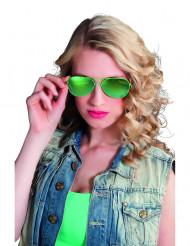 Óculos polícia verdes adulto
