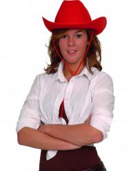 Chapéu cowboy vermelho adulto