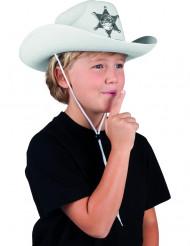 Chapéu shériff branco criança