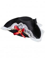 Chapéu de pirata com renda mulher