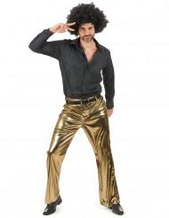 Calças douradas homem
