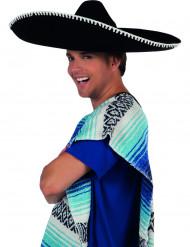 Sombrero de cor preta adulto