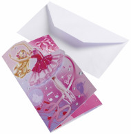 6 Convites Barbie™ com envelopes