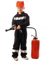 Disfarce de bombeiro rapaz