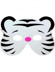 Máscara tigre branco criança