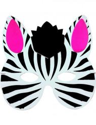 Máscara zebra criança