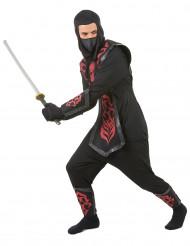 Disfarce ninja homem efeito feltro