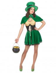 Disfarce de Duende para mulher para o dia de Saint Patrick