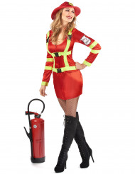 Disfarce bombeira mulher