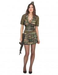 Disfarce militar mulher