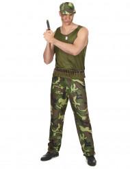 Disfarce militar verde homem