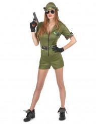 Disfarce de militar mulher