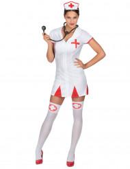 Disfarce enfermeira mulher vestido curto
