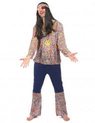 Disfarce de hippie homem psicodélico