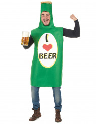 Disfarce de garrafa de cerveija adulto