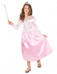 Disfarce princesa cor de rosa menina