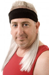 Bandolete preta com cabelo loiro Mulletonthego™